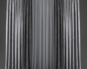 Curtains fabric 3D model low-poly