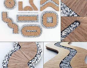 3D model Board road pebble collection n2
