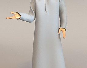 3D 1x Arabic real cloth loop animated boy for testing