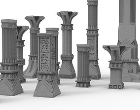 3D printable pillar and assorted bases for dwarf