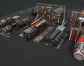 Machinery devices pack for Unreal engine 3D model