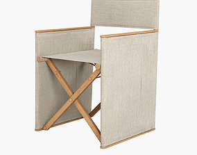 fabric folding chair 3D model