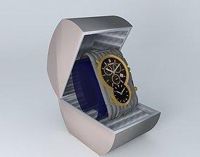 Gents Black Gold Fashion Watch TRIUMPH 3D model