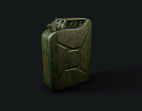 Jerrycan 20L Wehrmacht 3D model game-ready
