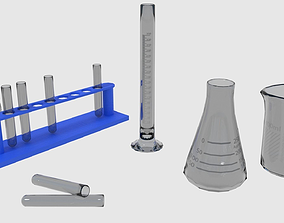 3D model Scientific - Medical Glassware