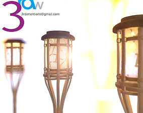3D model game-ready Bamboo Lamp
