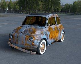 3D Fiat 500 Nuova 1957 rusty HDRI