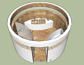 ROUND BATHROOM 3D model