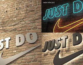 logo sign Nike Just do it 3d VR / AR ready
