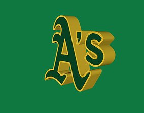 Oakland Athletics Team Logo 3D model