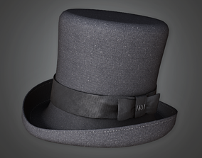 3D model Old Top Hat - HAT - PBR Game Ready