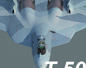 3D Russian Air Force Sukhoi T-50 PAK FA mass production 1