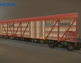 Train Goods Wagon 3D