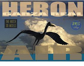 Heron model 3D asset