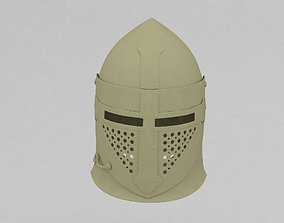 3D printable model knight helmet