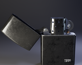 Lighter Zippo Low-poly 3D-model realtime