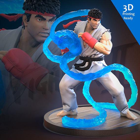 Ryu 3D Printing Ready (Fan art)