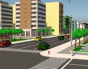 Simple City 3D asset