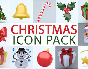 3D asset realtime CHRISTMAS ICON PACK