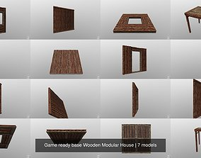 Game ready base Wooden Modular House 3D model
