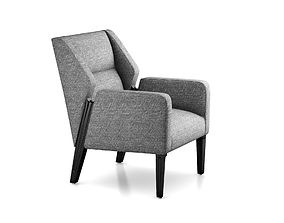 3D Jett Wood Leg Arm Chair