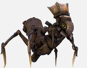 3D asset Game Character Arthropod Metal Crab Insect Robot
