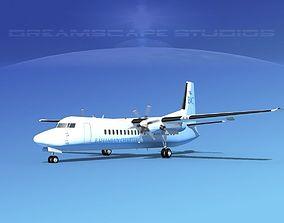 3D model Fokker 50 Bahamian Charters
