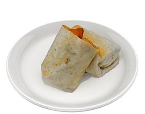 shawarma Low-poly 3D model low-poly