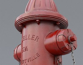 3D PBR elements fire hydrant