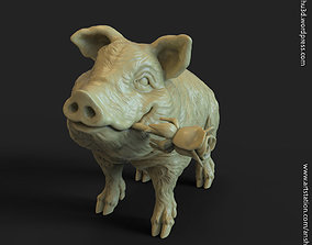 Pig vol1 Miniature figure 3D print model
