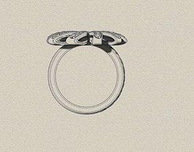 Ring for women 3D print model rings ring