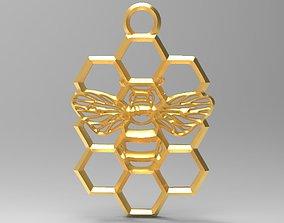 honeycomb Honeycomb bee pendant 3D print model