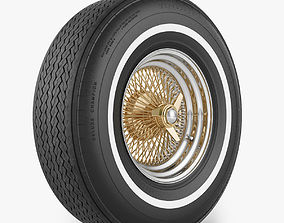Wire Wheel Tire Firestone 3D model