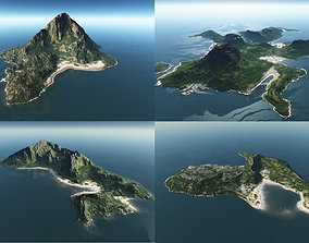 3D model Bundle of islands in Vue