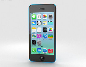3D model Apple iPhone 5C Blue