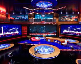 3D asset Talk Show TV Studio Unreal