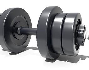 dumbbell 3D model game-ready bodybuilding