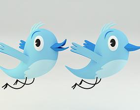 twitter bird 3D