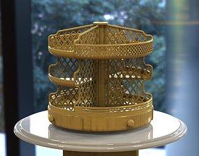 Wooden Kitchen or Restroom Food Organizer 3D print 1