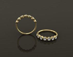 3D print model Bezel Half Infinity Diamond Band Ring 3