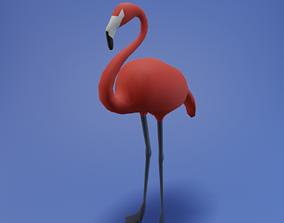 3D model Flamingo lowpoly
