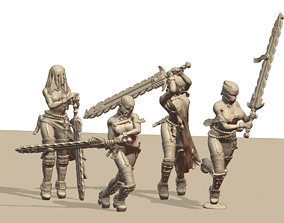 Holy Chainsaw Sisters 3D printable model