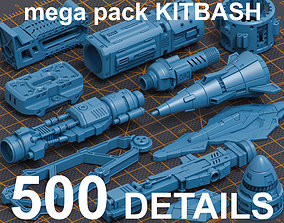 3D model Mega Pack Hard Surface Kitbash 500 DETAILS