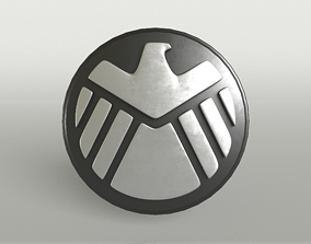 3D asset SHIELD Logo 007