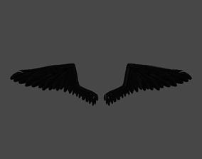 3D blaxk wings