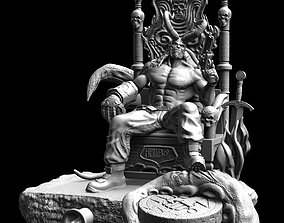 HellBoy on throne from my 3D printable model