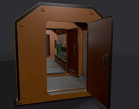 Used Refuge Chamber Container PBR 3D asset
