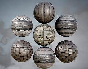 3D SCI-FI Cyberpunk Textures - PBR
