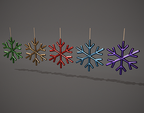 Snowflake Decorations 3D model