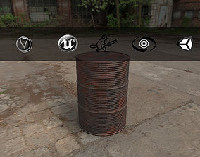 3D asset Rusty Barrel Style 1